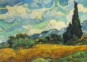 Винсент Ван Гог «Пшеничное поле с кипарисами»