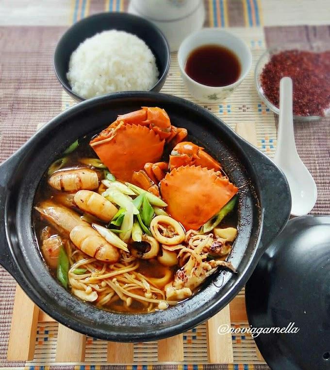 Resep Membuat Masakan Korea Haemul Jeongol ( korean spicy seafood hot pot )