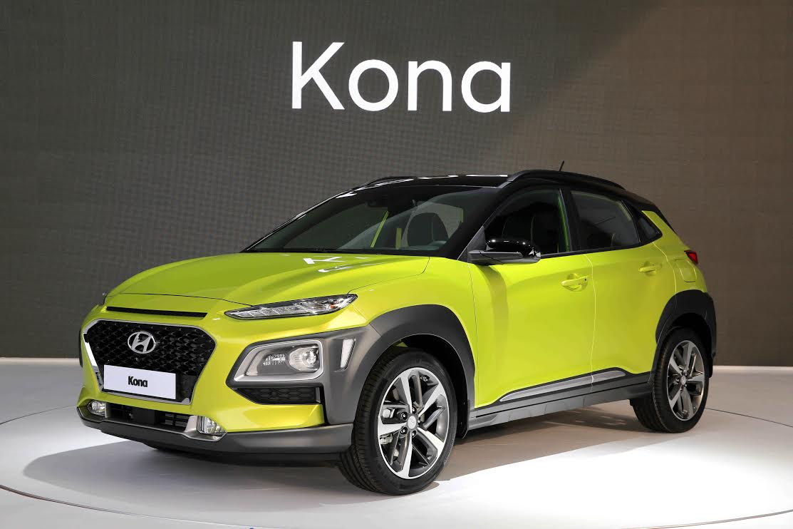 Hyundai Motor Has Unveiled The Latest Vehicle In Its Expanding Line Up Of Stylish Suvs Kona Compact Suv With Bold Design Cues And