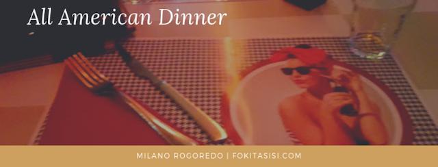 (Imagen) en Rogoredo (Milano), existe un local que ya desde que entras te impacta por la decoración del mismo, se llama All American Dinner, en este lugar encuentras toda relacionado con los años 50-60s' de USA