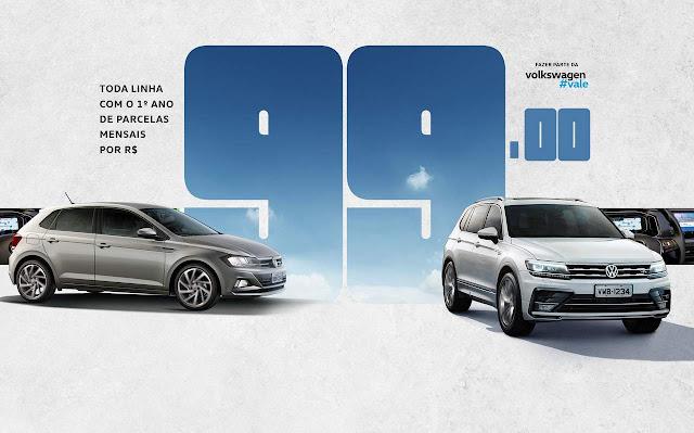 VW oferece Gol e Voyaye Automáticos c/ parcela de R$ 99