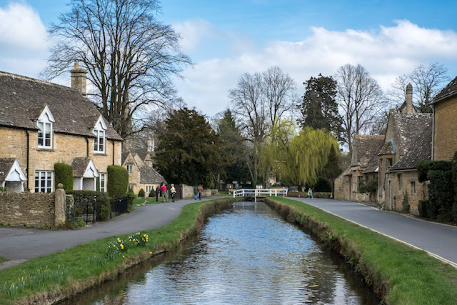 Upper and Lower Slaughter, England