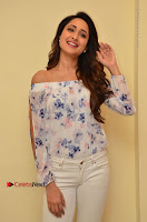Actress Pragya Jaiswal Latest Pos in White Denim Jeans at Nakshatram Movie Teaser Launch  0015.JPG