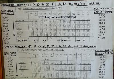 Rozkład jazdy greckich kolei OSE