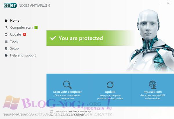 ESET NOD32 Antivirus 9.0.377 Final Full Serial Terbaru