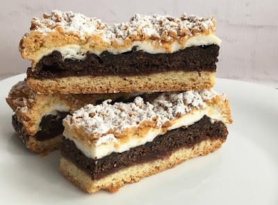 Ciasto kruche z kakao i konfiturą