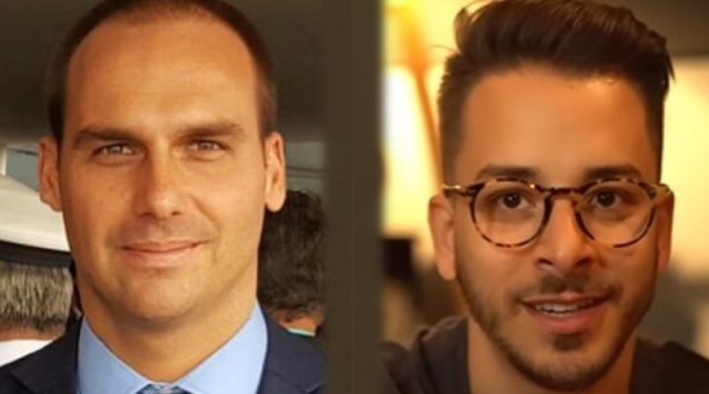 Eduardo Bolsonaro destrói Junior (ex-Sandy e Junior)