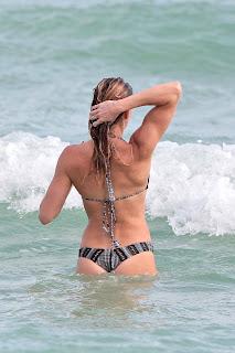 Katie Cassidy – Day 3 wearing a bikini at a beach