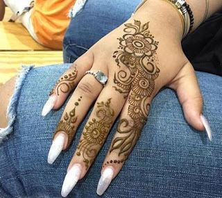gambar henna simple