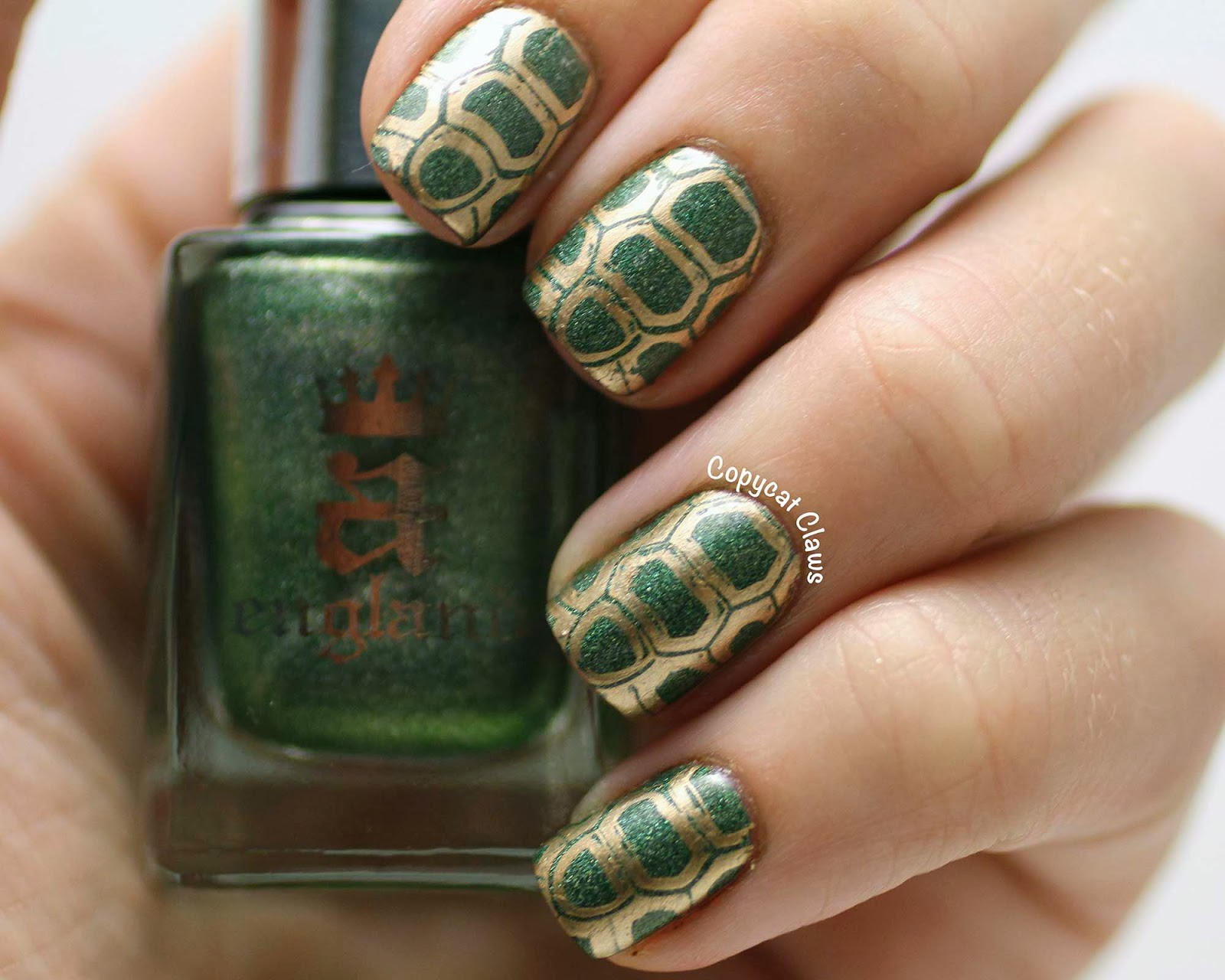 Copycat Claws: Turtle Nails & A England Dragon Swatch
