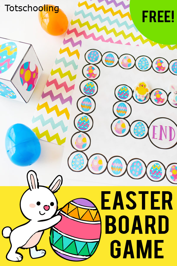 FREE printable board game for preschool, pre-k and kindergarten kids to practice visual discrimination while having fun matching Easter Eggs. Fun and easy Easter game for young kids!