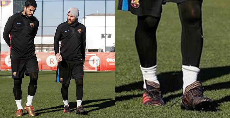 a1ab35b01401 Messi Wears One of a Kind Custom Adidas Nemeziz Boots