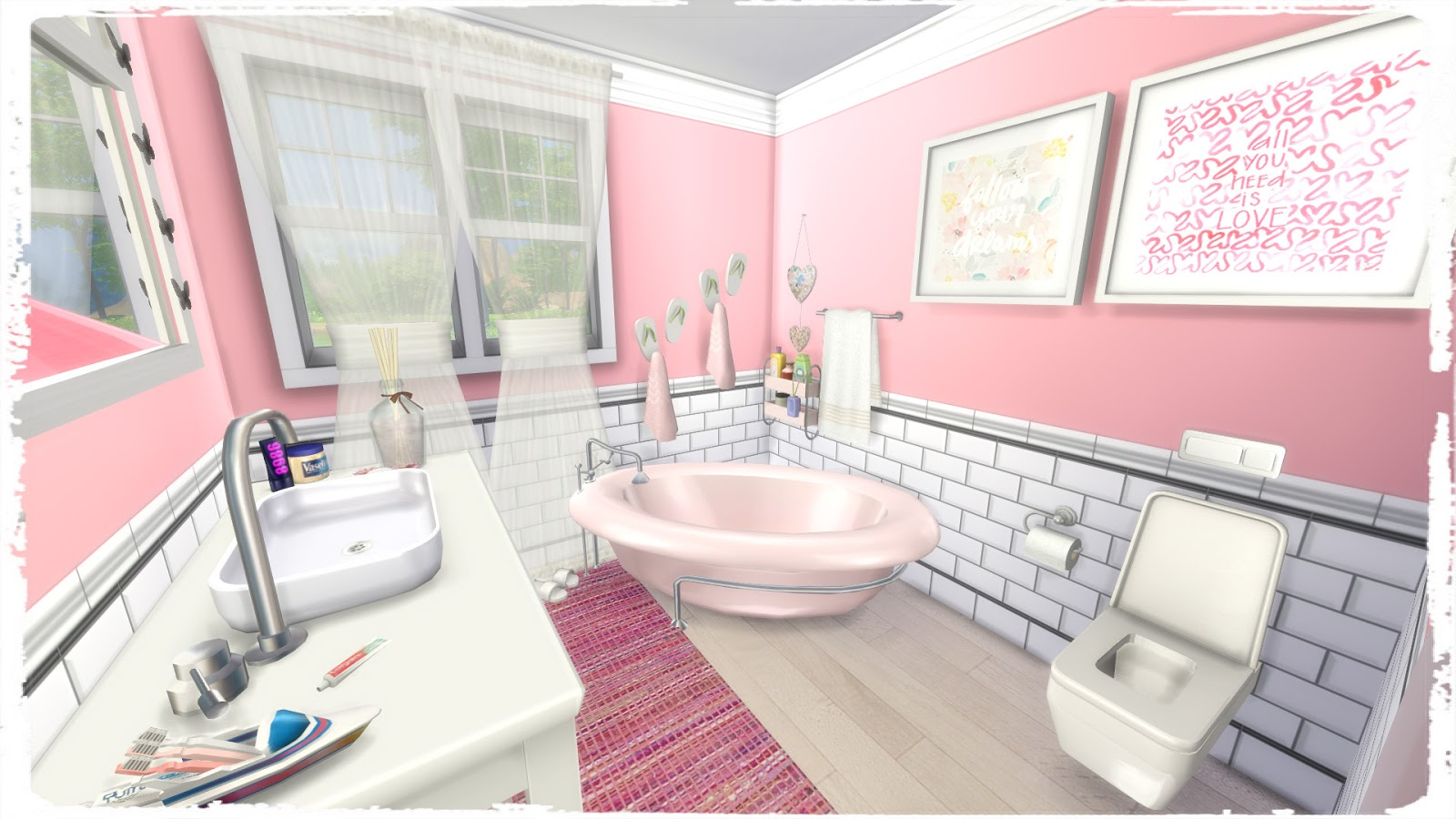 Sims 4 - Girls Bedroom (Room + Mods for download) - Dinha