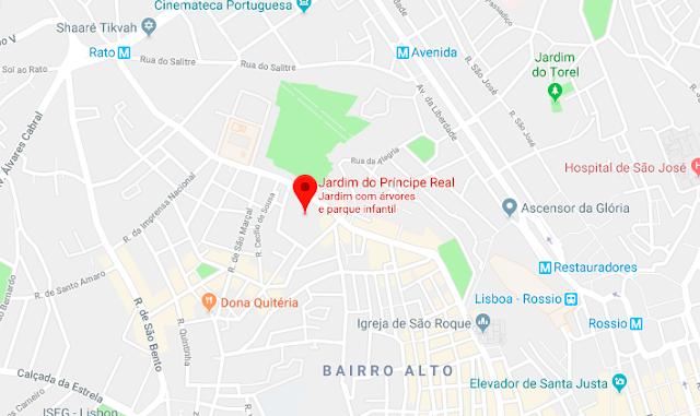 Mapa do Jardim do Príncipe Real