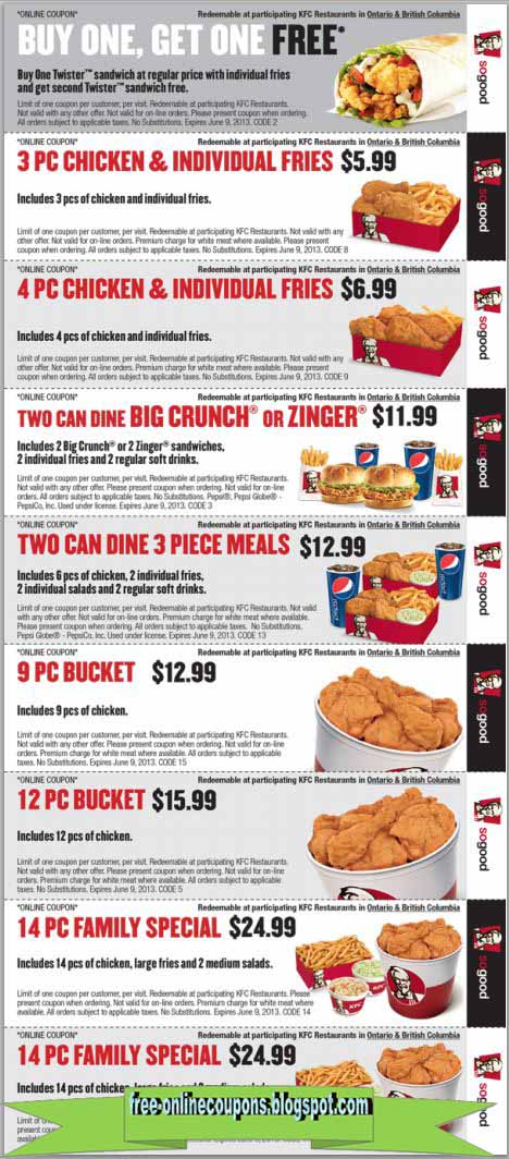 photo relating to Kfc Printable Coupons titled Kfc discount coupons united kingdom / Mission tortillas coupon 2018