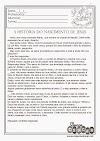 """Atividade de Natal: texto """"A história do nascimento de Jesus"""" com interpretação"""