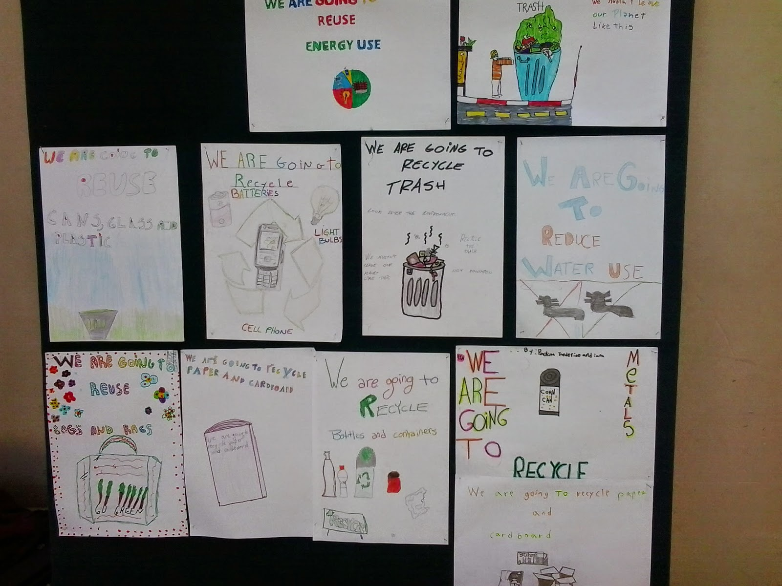 4th Grade English Class Reduce Reuse Recycle