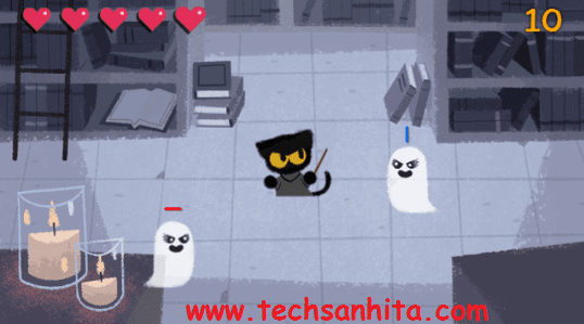 Google search games -Spooky Cat