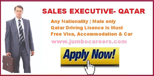 Latest sales jobs in Doha qatar with free accommodation,