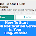 How To Start Push Notification Services In Your Blog - Hindi Tutorial