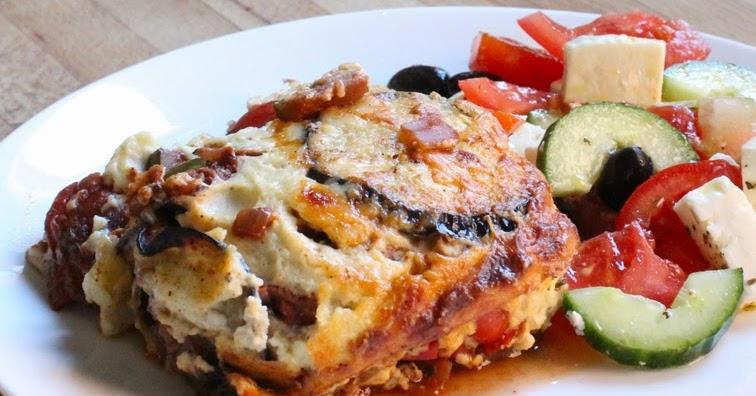 Mediterranean vegetable moussaka national vegetarian for Mandolin mediterranean kitchen