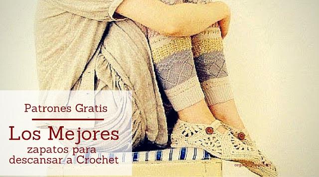 Los Mejores Zapatos a Crochet para Descansar - Patrones Gratis