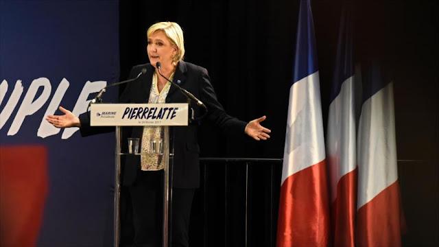 Le Pen aboga por ruptura entre Francia, UE y OTAN