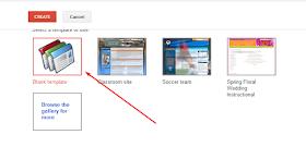 template blank site google