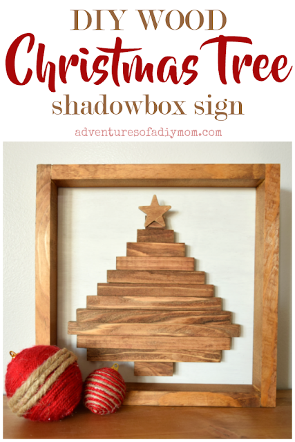 Build your own wood Christmas tree shadowbox sign