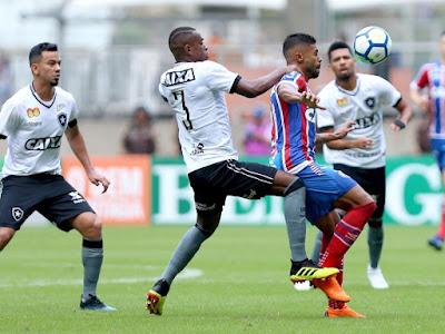 Em casa, Bahia empata com Botafogo