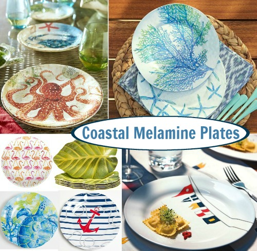 Coastal and Nautical Melmaine Dinnerware and Plates