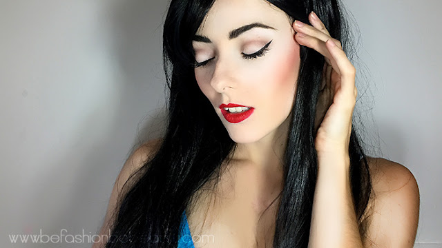 Maquillaje inspirado en Blancanieves.