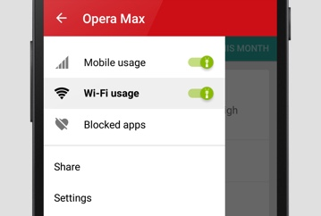 opera max on android