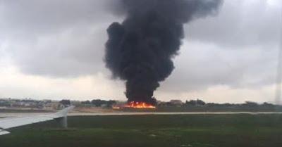 سقوط ثاني طائره بعد سقوط الطائره التركيه