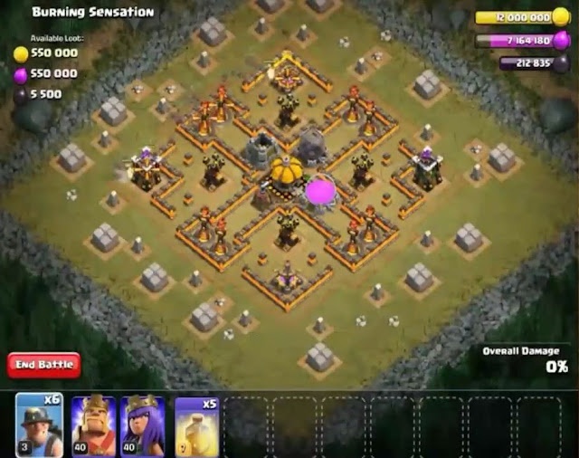 62. Burning Sensation Goblin Base COC
