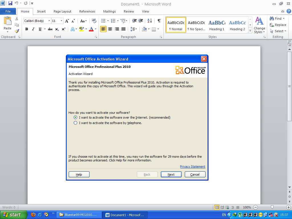 microsoft office 2010 activation crack