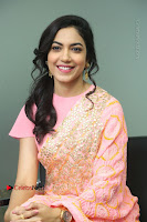 Actress Ritu Varma Pos in Beautiful Pink Anarkali Dress at at Keshava Movie Interview .COM 0260.JPG