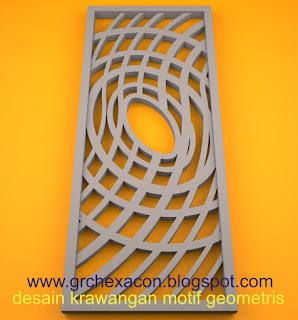 krawangan GRC motif geometris