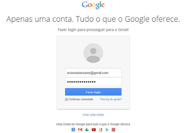 Como logar no Gmail direto