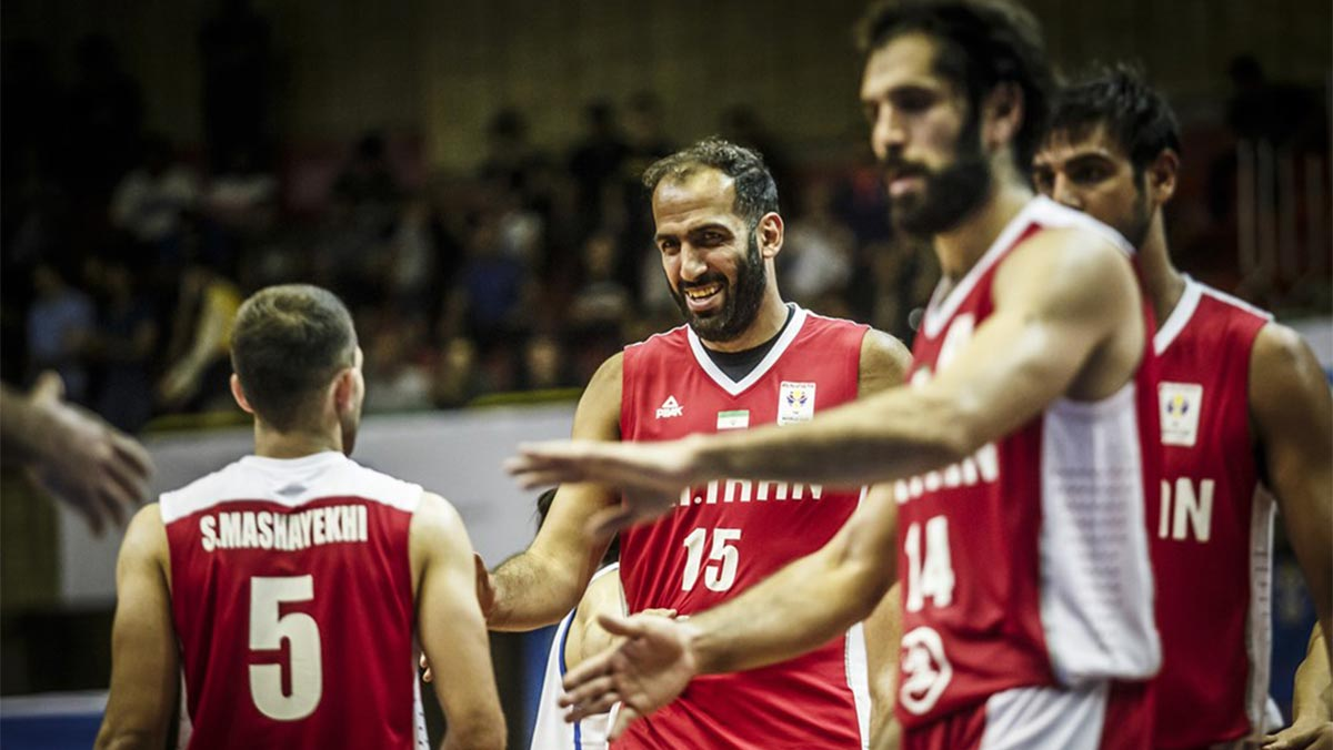 Iran's 19-man pool for the FIBA World Cup 2019