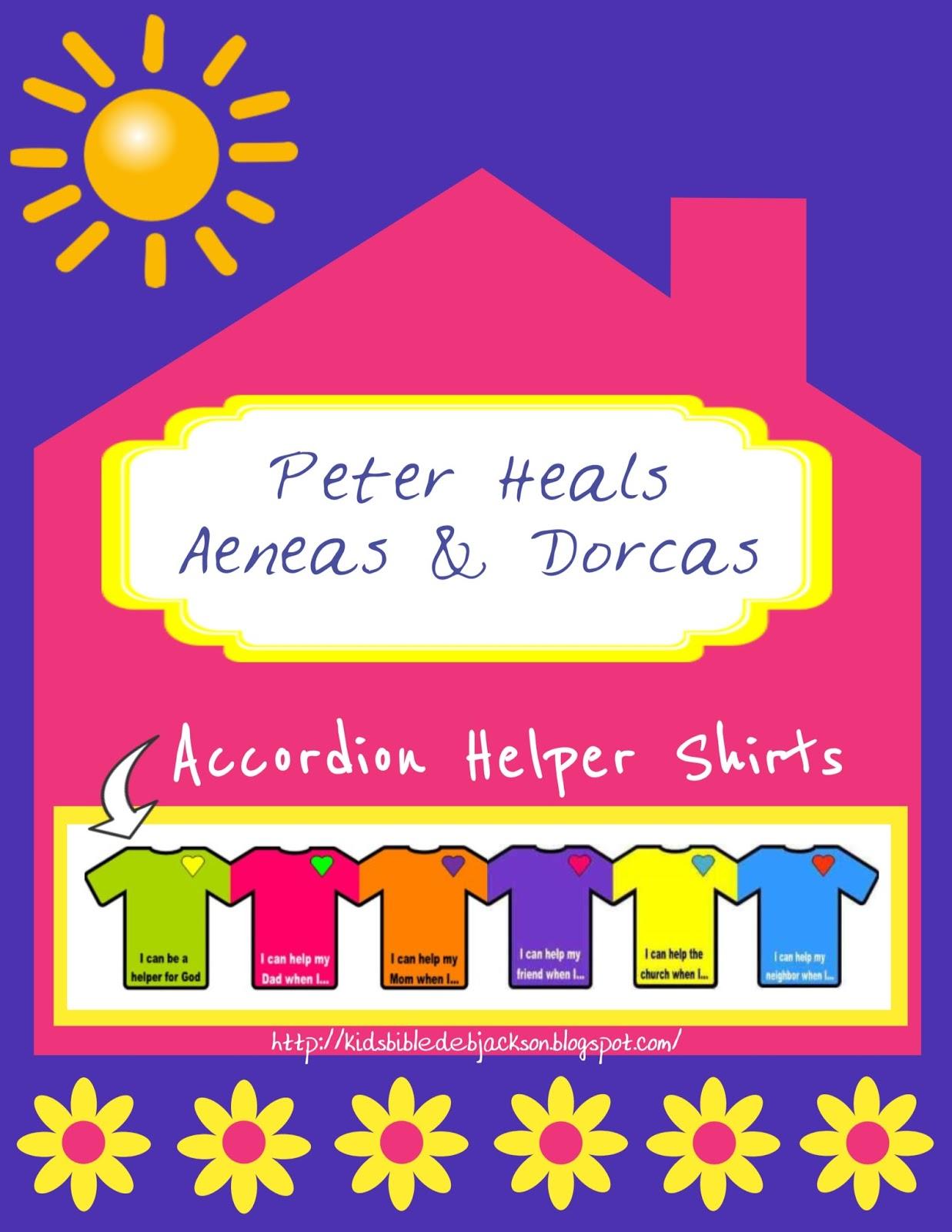 http://www.biblefunforkids.com/2014/12/peter-heals-aeneas-dorcas.html