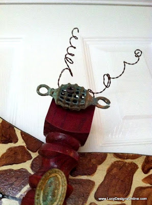 recycled table leg dragonfly art