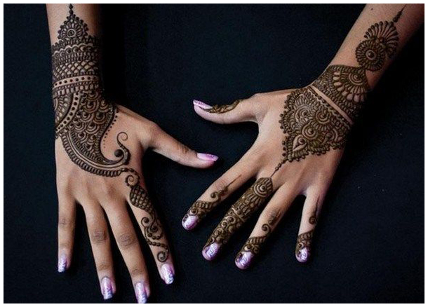 Paisley Design I Beautiful, easy and simple bridal mehendi/mehandi designs for hands.