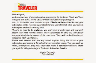 Traveler, subscription, renewal, notice, email