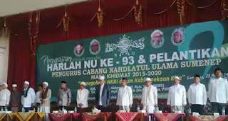 Ketua Umum dan Wakil Rois PBNU Hadiri Harlah dan Pelantikan PCNU Sumenep