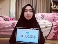 Youtuber Berhijab Pertama tembus 10 juta subcriber, Ria Ricis bernazar berangkatkan umrah beberapa penggemarnya