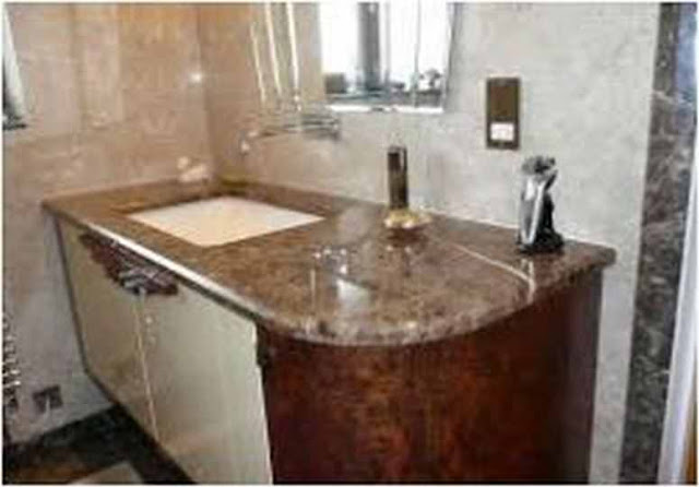 Simple Emperador Dark Marble Bathroom Ideas