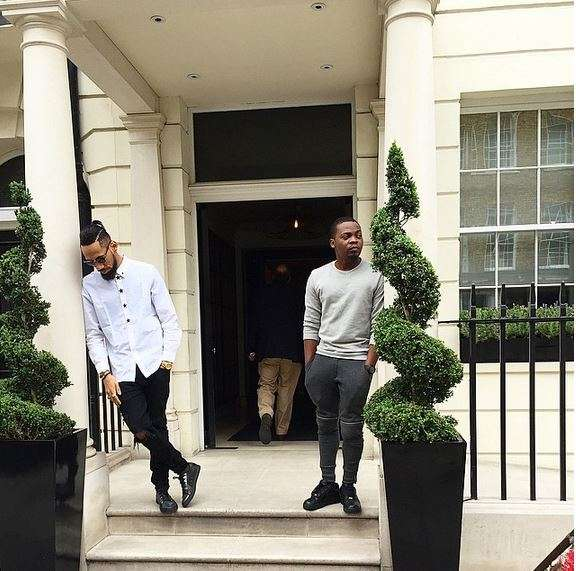 2 Kings: Phyno Spotted Hanging Out With Olamide In London, See