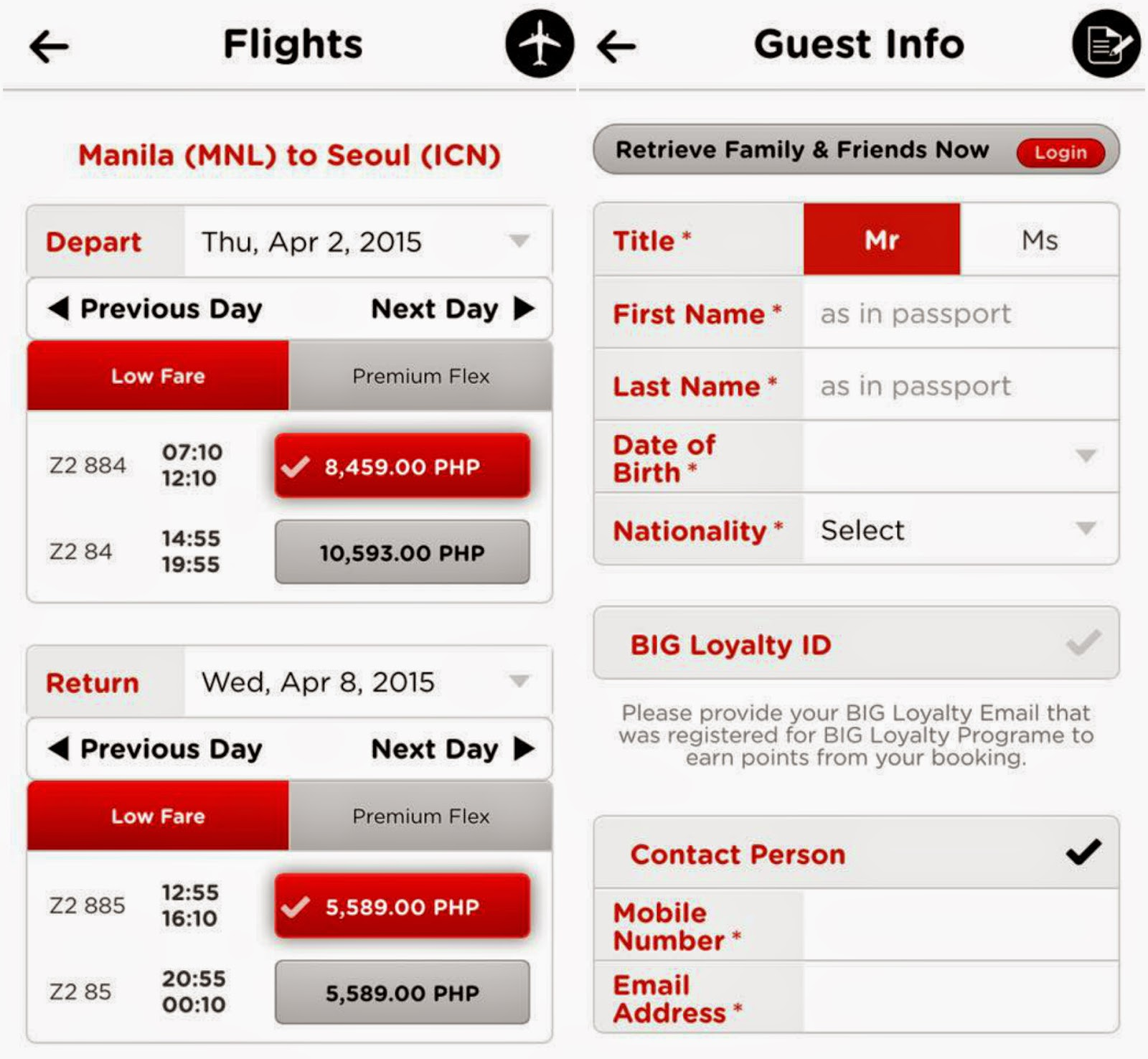 FTW! Blog, Flight Schedule, Guest Info
