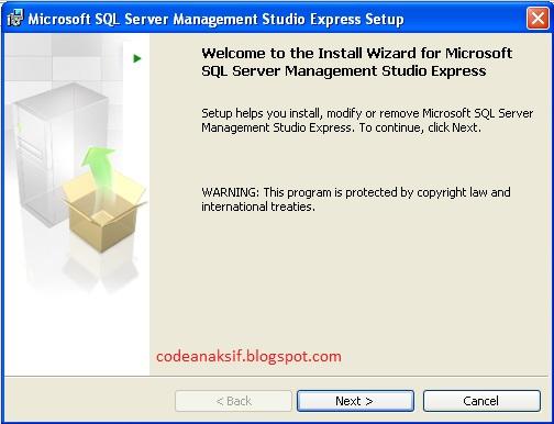 cara install swl server 2005